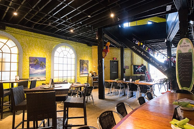 The dining area brightens up a Choteau Ave. warehouse. - MABEL SUEN