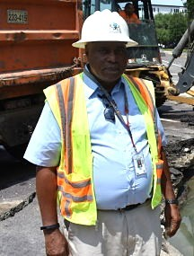 Vincent Foggie, a worker with the city's Water Division. - DANIEL HILL