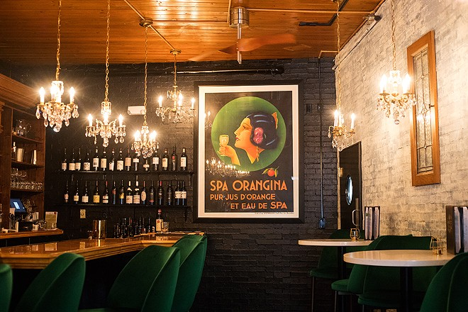 The bar offers a casual hangout to enjoy Oaked's first-class wine list. - MABEL SUEN
