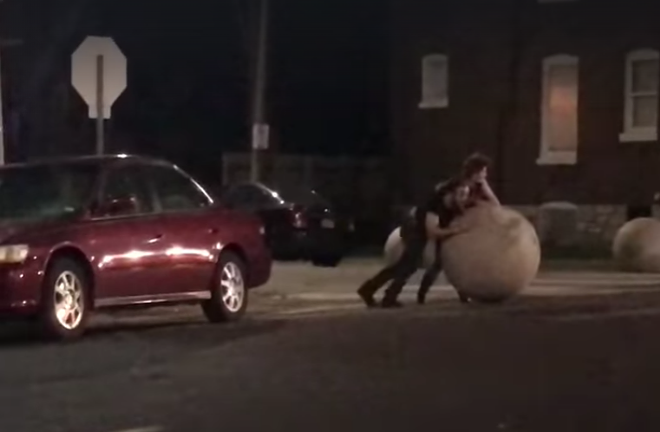 Just a couple of guys playing with our balls. - SCREENSHOT FROM THE VIDEO BELOW