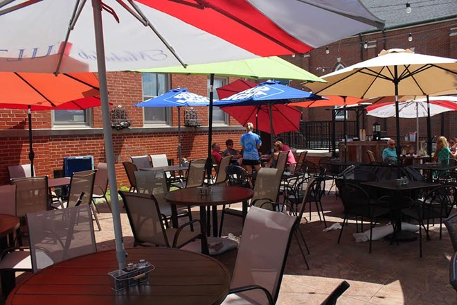 About 85 people can sit on the cafe's patio. - KATIE COUNTS