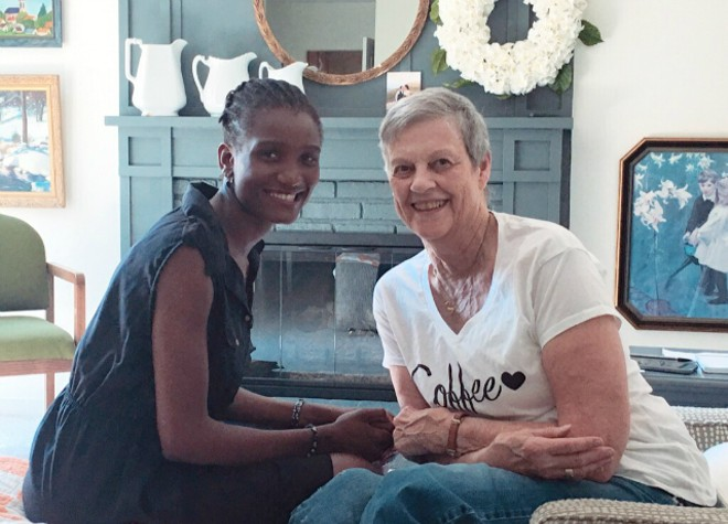 Pat Price and Annie Mbale became unlikely but happy roommates. - COURTESY ANNIE MBALE