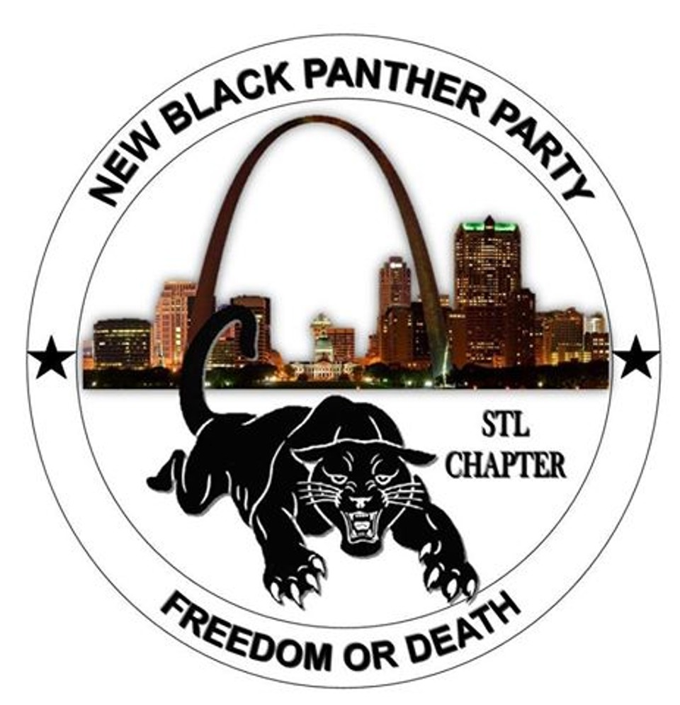 A logo of St. Louis chapter of the New Black On Panther Party, which Davis posted to Facebook on October 16, one month before his arrest. - VIA FACEBOOK