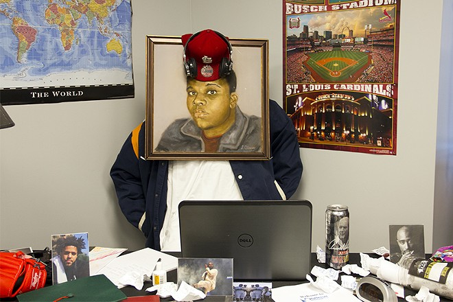 """A recreation of Michael Brown's bedroom, as displayed in """"As I See You: A Tribute to Mike Brown Jr."""" - DANNY WICENTOWSKI"""