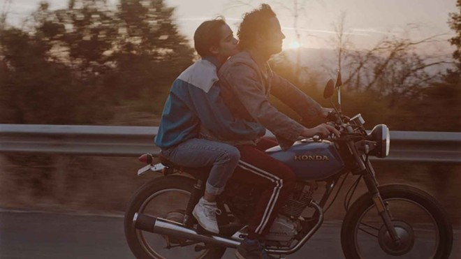 Sofia and Ignacio (Demian Hernández and Matías Oviedo) go for a dreamy motorcycle ride. - COURTESY OF KIMSTIM FILMS
