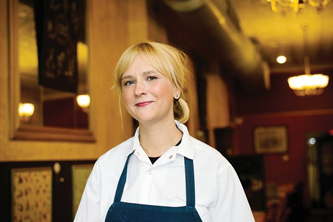 Brasserie pastry chef Elise Mensing relishes the tactile nature of the kitchen. - STEPHEN KENNEDY