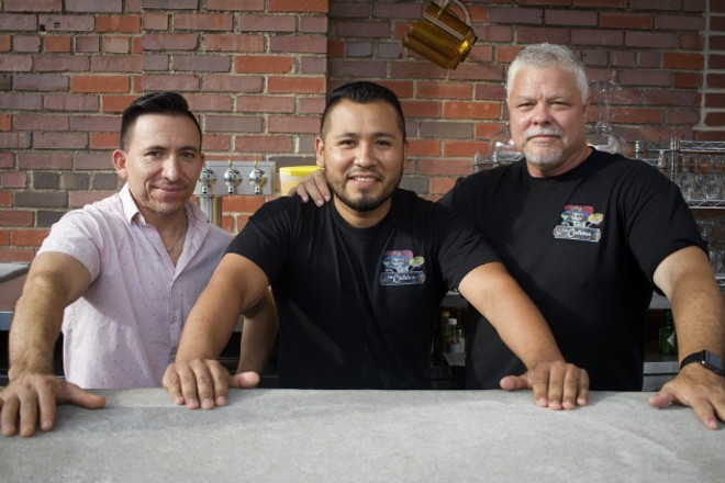 Owners Jerry Reyes, Enrique Robles and Steve Resnic are happy to bring La Catrina to the Southampton neighborhood. - CHERYL BAEHR
