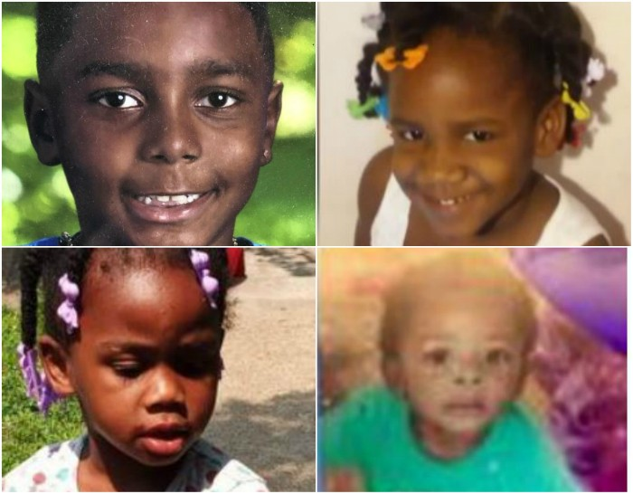 Clockwise from top left: Eddie Hill, Jurnee Thompson, Kayden Johnson and Kennedi Powell.