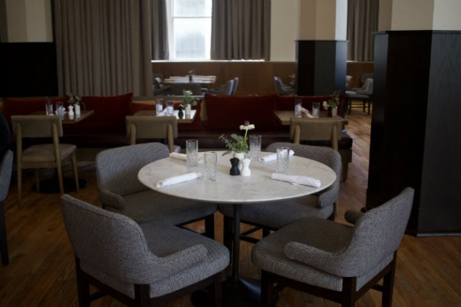 The large dining room is beautifully appointed. - CHERYL BAEHR