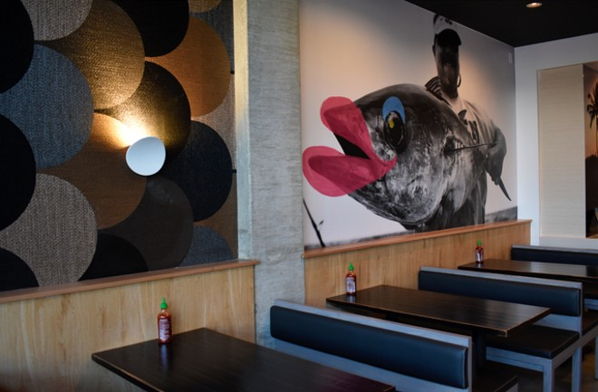 Inside LemonShark, the artwork and decor reflect the poke-inspired menu. - LIZ MILLER