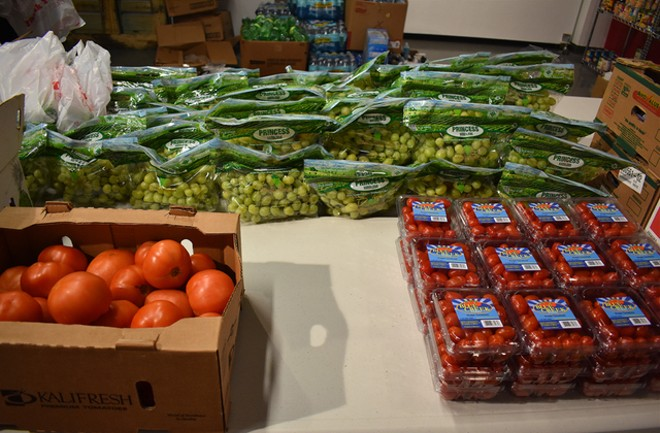 Balancing fresh produce with shelf-stable goods was a longtime goal for the pantry. - LIZ MILLER