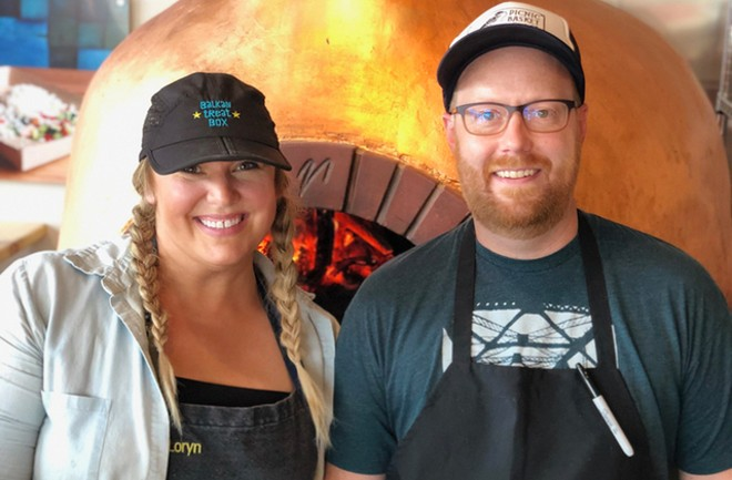 Chefs Loryn Nalic and Nate Hereford. - COURTESY BALKAN TREAT BOX