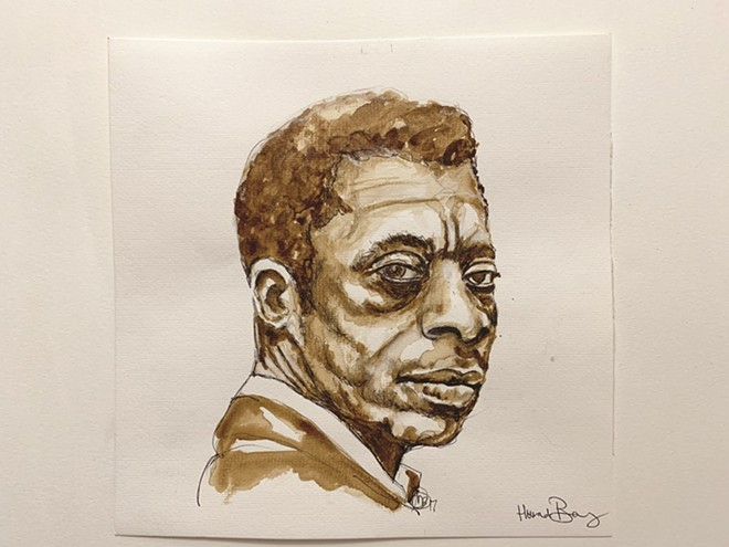 Artist Howard Barry opens a new show of his work on Saturday. - JAMES BALDWIN, (C) HOWARD BARRY