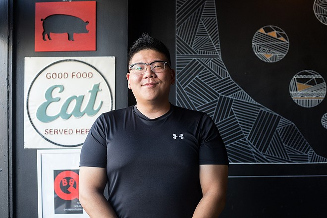 BoBQ chef and co-owner Victor Jang, who runs the restaurant with his wife, Moon Kim. - MABEL SUEN