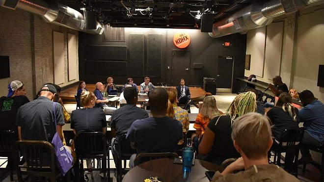 KDHX's September 16 meeting of the board of directors included an open forum to address recent allegations of racial insensitivity and mismanagement by top leadership. - DANIEL HILL