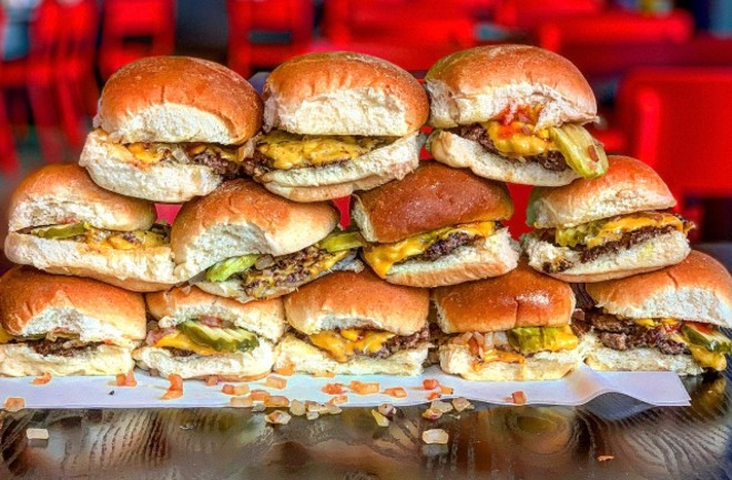 The sliders will be served two hours before game time until the end of each each playoff game. - COURTESY GREEN OLIVE MEDIA