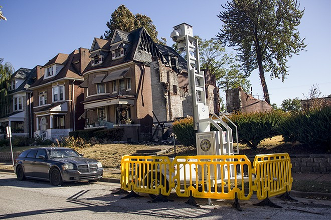 The upper floor of an inhabited home damaged by a blaze on October 11. - DANNY WICENTOWSKI