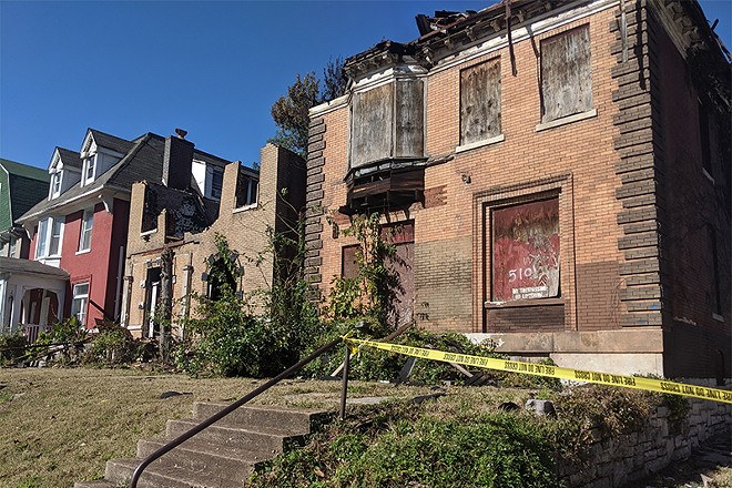 Both vacant homes damaged on Monday are owned by Green Line LLC. - DANNY WICENTOWSKI