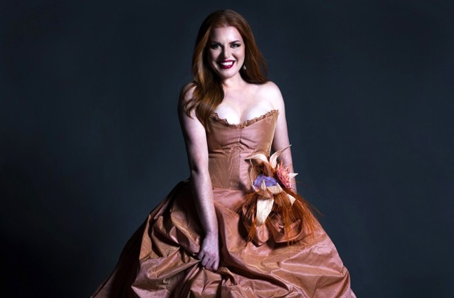 Items like this dress from Opera Theatre St. Louis' production of Orfeo & Euridice could be yours. - FAY FOX