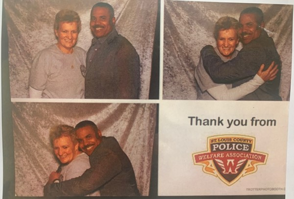 A photobooth spread contradicted testimony by Capt. Guy Means. - COURTESY OF RUSS RIGGAN