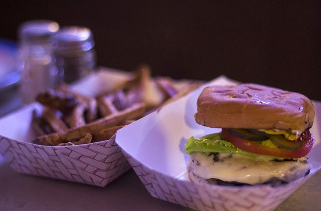 Iowa Buffet serves one of the best burgers in town. - RFT ARCHIVE