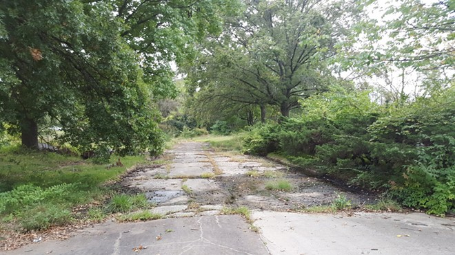 A Bridgeton subdivision, Carrollton, was bulldozed for a runway expansion. Only vacant streets remain. - DANNY WICENTOWSKI