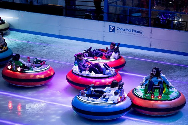 The action happens in March, although specific dates haven't been announced. - COURTESY BUMPER CARS ON ICE TOUR