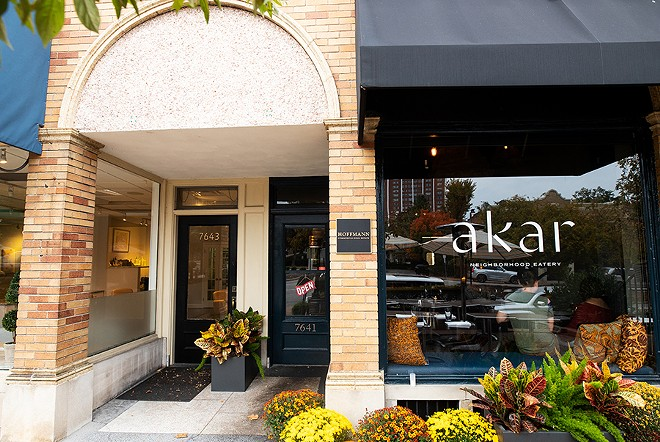 Located in the former Anthony's Italian Eats, Akar's dining room seats just fourteen people. - MABEL SUEN