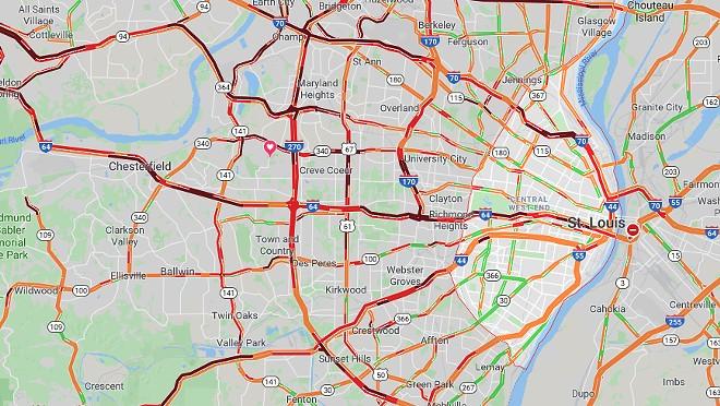 SCREENGRAB VIA GOOGLE MAPS AT 5 P.M.