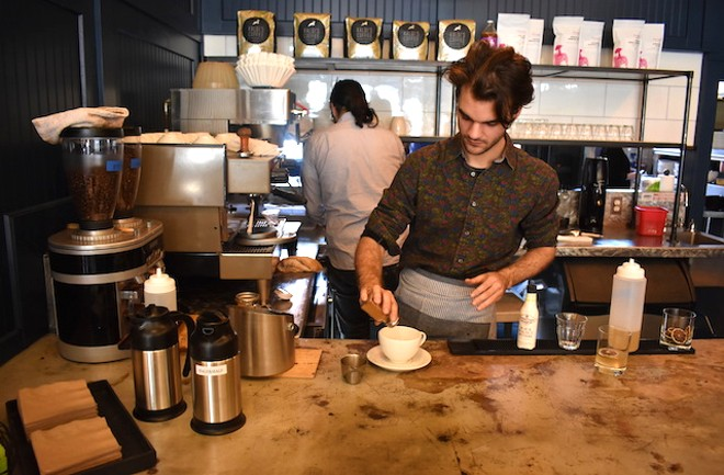 The new coffee program at Winslow's Table aims to give the neighborhood a new coffee destination. - LIZ MILLER