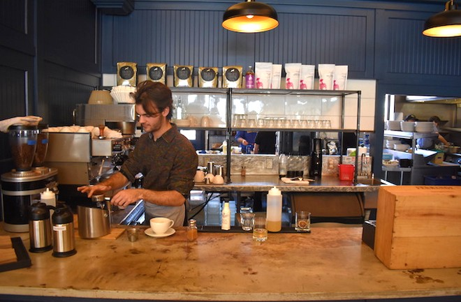 The coffee bar at Winslow's Table. - LIZ MILLER