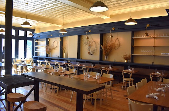 Another view of the remodeled dining room at Winslow's Table. - LIZ MILLER