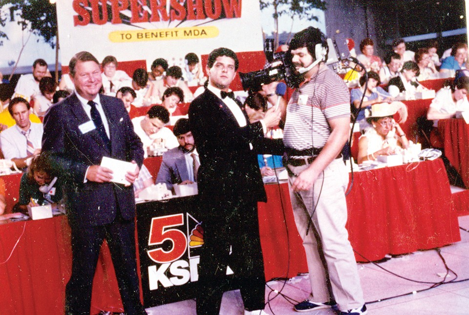 Bob Richards, center, was well known as the local co-host of the Jerry Lewis MDA Labor Day Telethon.
