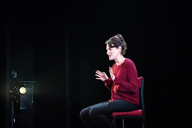 Phoebe Waller-Bridge in her original one-woman show Fleabag, which is screened nationwide on Monday. - MATT HUMPHREY