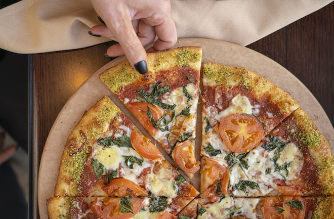 Another view of the Margherita pizza. - COURTESY OF LODGING HOSPITALITY MANAGEMENT