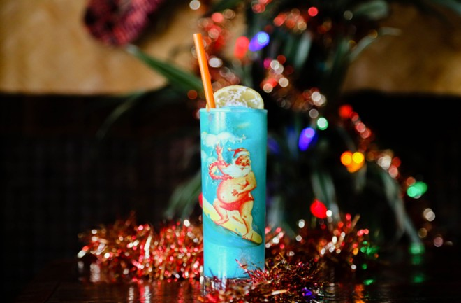 Sippin' Santa is hosting our favorite kind of Blue Christmas. - COURTESY SIPPIN' SANTA