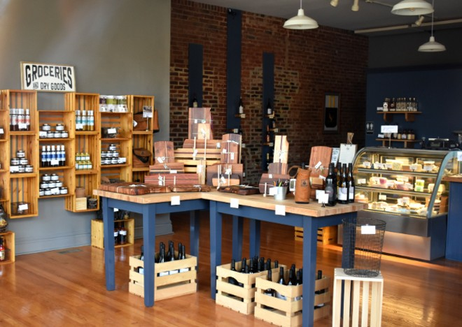 A peek inside Wild Olive Provisions, now open in Shaw. - LIZ MILLER