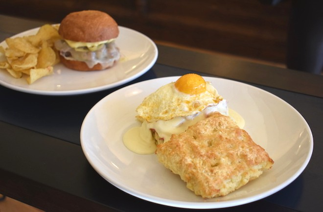 The buttermilk biscuit sandwich at Winslow's Table was something to be grateful for in November. - LIZ MILLER