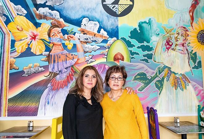 Sisters Dulce and Veronica Morales operate Alta Calle. - MABEL SUEN