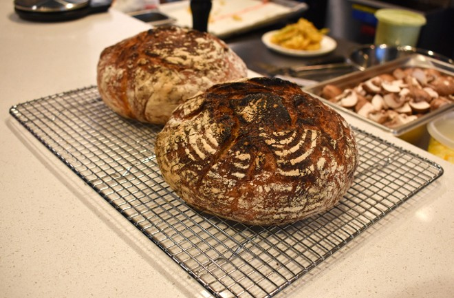 Craig Rivard and his team of cooks are baking bread in-house for the Little Neck clam dish. - LIZ MILLER