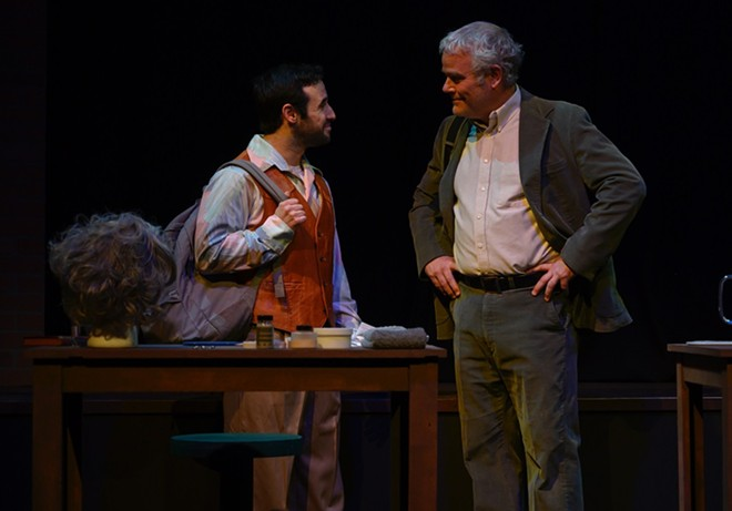 Ryan Lawson-Maeske and William Roth in A Life in the Theatre. - PATRICK HUBER
