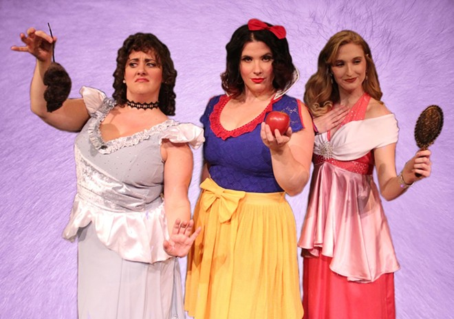 Three of Disenchanted's disgruntled princesses. - COURTESY OF STRAY DOG THEATRE