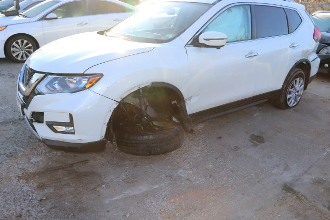 The stolen SUV took a beating, too. - COURTESY CLAYTON POLICE