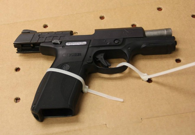 Police recovered this handgun following the crash. - COURTESY CLAYTON POLICE