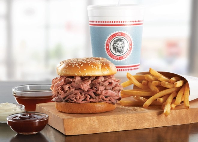 Soon you'll be able to buy a frozen pizza topped with Lion's Choice's famous roast beef. - COURTESY LION'S CHOICE