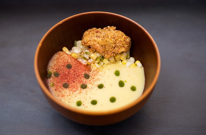 One of the many artfully plated dishes served at Bulrush this year. - MABEL SUEN