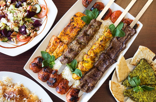 Kebabs are a house specialty at Esther's Persian Café. - MABEL SUEN