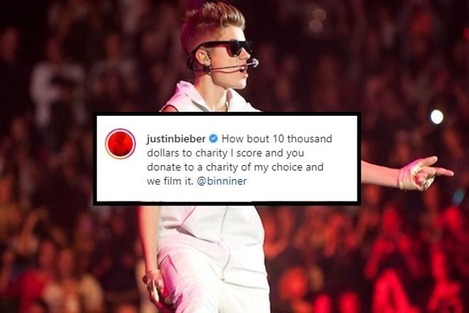 Justin Bieber Accepts Jordan Binnington's Breakaway Challenge