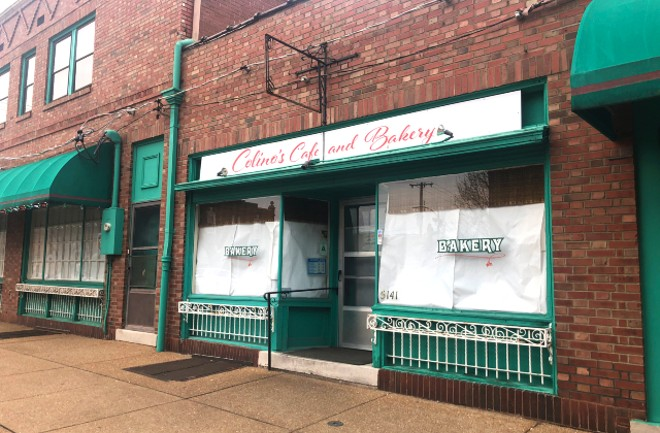 "Colino's has closed, but signs in the windows tease that ""something amazing"" is ""happening."" - LIZ MILLER"