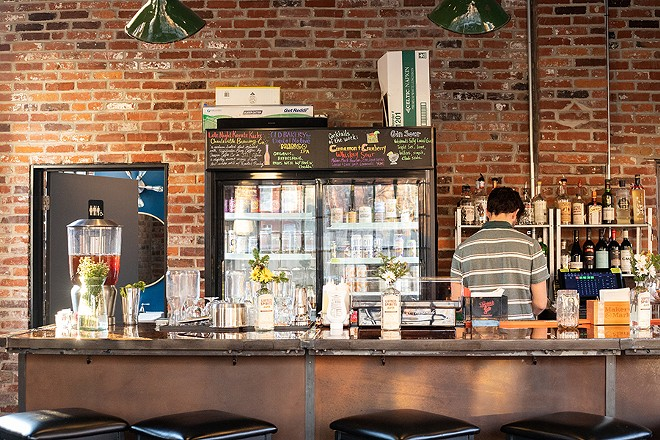 Utah Station feels like a restaurant and bar that happens to have vegan food, rather than a vegan restaurant. - MABEL SUEN